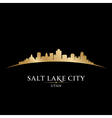 Salt Lake city Utah skyline silhouette vector image vector image