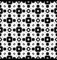 seamless pattern black white geometric ornament vector image vector image