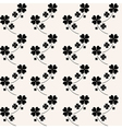 seamless pattern with lucky clovers vector image