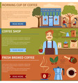 Set Of Coffee Banners vector image vector image