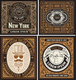 set old cards vector image vector image