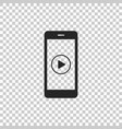smartphone with play button on the screen icon vector image vector image