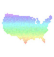 spectrum usa map vector image vector image