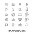 tech gadgets technology electronics laptop vector image vector image