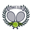 tennis sport game graphic vector image vector image