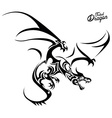Tribal Dragon vector image vector image