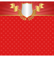 vintage red background with stars shield and vector image vector image