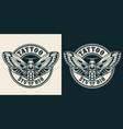 vintage tattoo studio round label vector image vector image