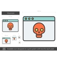 Virus line icon vector image vector image