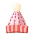 Womens winter hat icon cartoon style vector image vector image