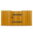 wooden fence with wicket door vector image vector image