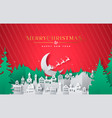 year paper cut winter city card vector image vector image