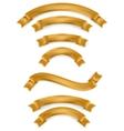 Set of gold ribbons EPS 10 vector image