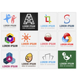Set of twelve abstract icons for business branding vector image