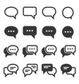 chat and speech bubble iicons set on white vector image