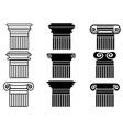 column icons set vector image