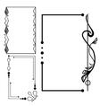 Decorative vintage frames set vector image