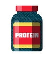 Sports food nutrition icons in flat style and long vector image