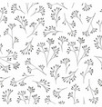 a delicate black and white pattern with small vector image vector image