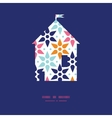 abstract colorful stars house silhouette vector image vector image