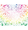 abstract spectrum color dots wallpaper vector image vector image