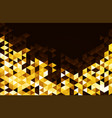 abstract template background with gold triangle vector image vector image