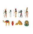 ancient egypt cultural symbols set gods and vector image vector image