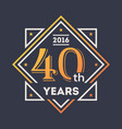 anniversary design element 40th years label vector image