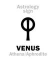 astrology planet venus vector image vector image