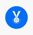 award honor medal rank reputation ribbon white vector image vector image