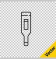 black line medical digital thermometer for medical vector image vector image