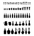 bowls bottles glasses vector image vector image