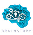 brainstorm concept in paper vector image vector image