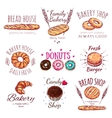 Bread House Logo Set vector image vector image