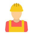 builder flat icon build and repair construction vector image vector image