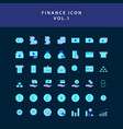 business and finance icon flat style design set vector image