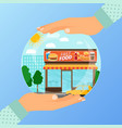 business concept for opening institution of vector image