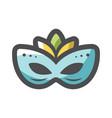 carnival mask masquerade icon cartoon vector image