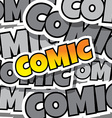 cartoon comic text vector image vector image
