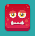 cartoon monster in flat style vector image