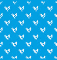chicken pattern seamless blue vector image
