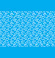 chinese wave pattern seamless on blue background vector image