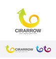 circular arrow logo design vector image