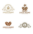 coffee logo design template coffee label badge vector image vector image