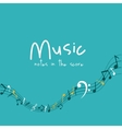 Colorful music note design vector image