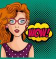 comic like woman icon vector image