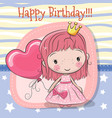 cute cartoon fairy tale princess vector image