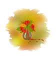 Decorative bouquet of rowan leaves vector image vector image