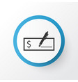 dollar bank check icon symbol premium quality vector image