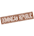dominican republic brown square stamp vector image vector image